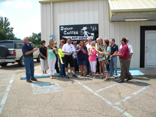 Swamp Coffee Ribbon Cutting